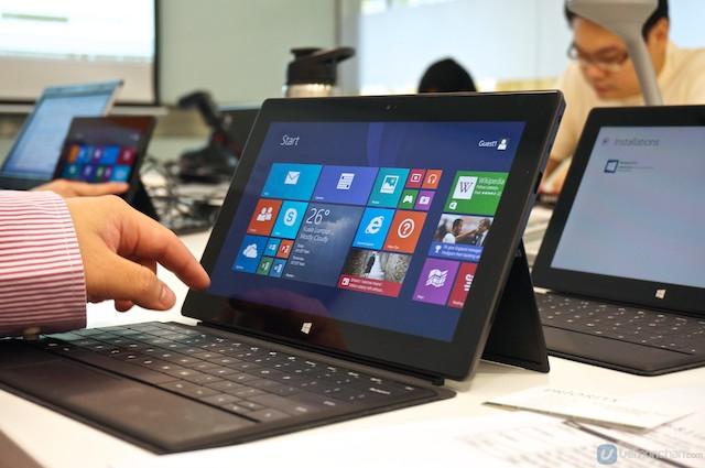 Windows 8 mit seiner Kacheloberfläche.