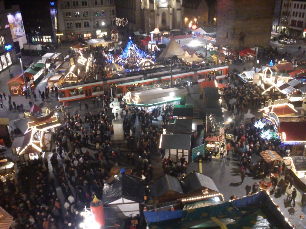 Der hallesche Weihnachtsmarkt.