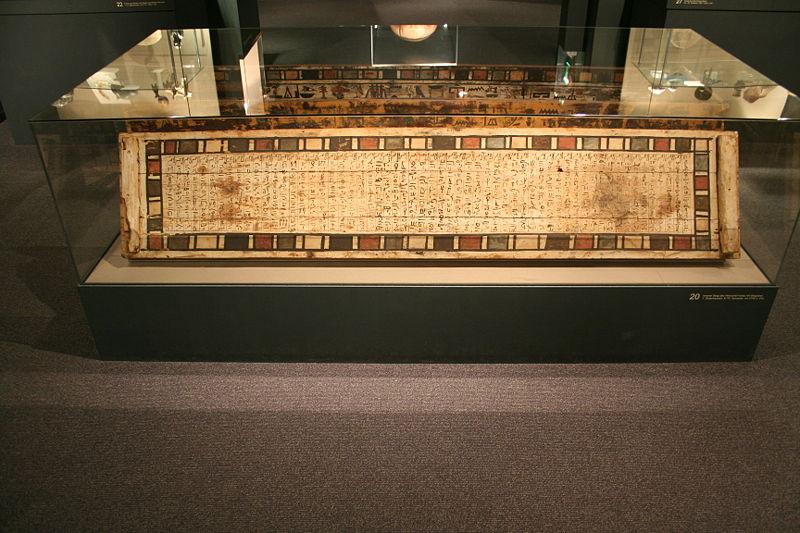 Der Sarg Herishefhoteps im Ägyptischen Museum in Leipzig.