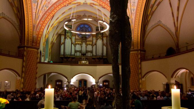 Trotz schlechtem Wetters waren die Kirchen wieder gut gefüllt zur 16. Kirchennacht. (Foto: Kirchenkreis Halle-Saalkreis)