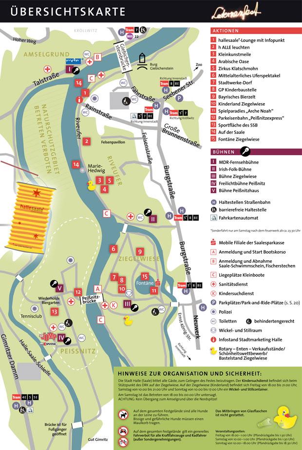 Übersichtskarte zum Laternenfest 2016