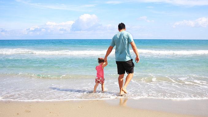 Vater Kind Strand