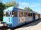 Zug, blauer Triebwagen