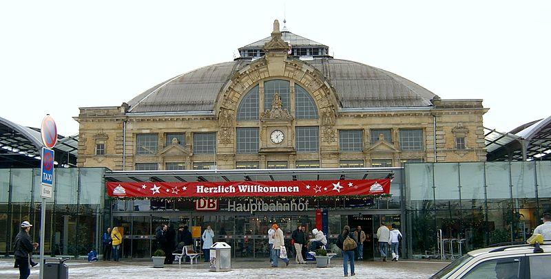 Der Hauptbahnhof Halle (Saale) - zurzeit im Ausbau zu einem großen überregionalen Güterbahnhof.