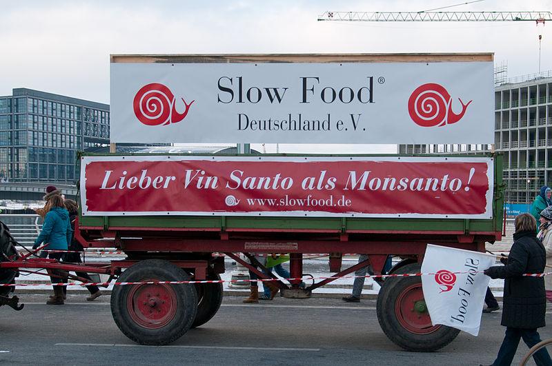 Unter anderem der Slow Food Deutschland e.V. protestiert in Berlin (Archiv 2013).