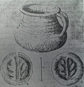 Abb.2: Skizze mit Detailansichten der Silbermünzen. Abbildung: Landesamt für Denkmalpflege und Archäologie, Halle