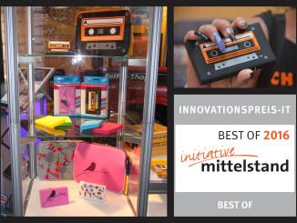 Die Marktneuheit HipDisk-mobil mit Stil erhält den Innovationspreis-IT BEST OF 2016 in der Kategorie Hardware. Damit gehört die multifunktionelle Designfestplatte zu den besten IT-Lösungen des Mittelstandes.