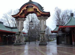 Eingang im asiatischen Stil
